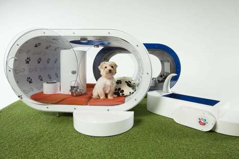 Hi-Tech Dog Homes - This Dream Doghouse is Equipped with the Latest Samsung Electronics