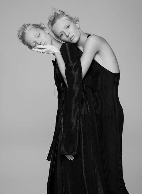Sisterly Couture Editorials - Daria Strokous and Sasha Luss Pose for V Magazine's Latest Issue