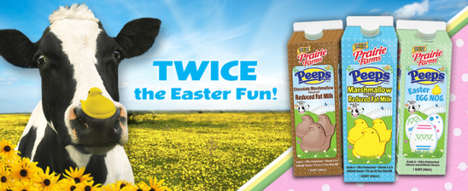 Easter Marshmallow Milks - The Peeps-Flavored Milk Will be Available Just in Time for Easter