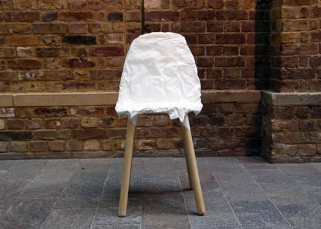 Paper Mache Perches - The Crumpled Chair Offers an Uneven Seating Surface with a Crafty Appearance