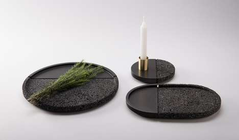 Volcanic Rock Plates - LAVA by PECA is a Decorative Dish Collection for the Home