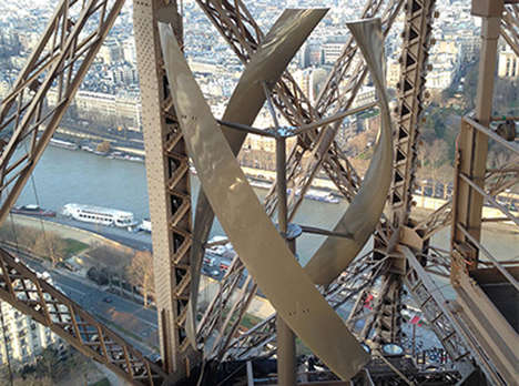 Iconic Landmark Turbines - The Eiffel Tower Wind Power System Sets Standards for Similar Structures
