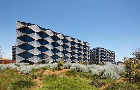 Geometric Hospital Facades - The Fiona Stanley Hospital in Perth Boasts a Mesmerizing Exterior