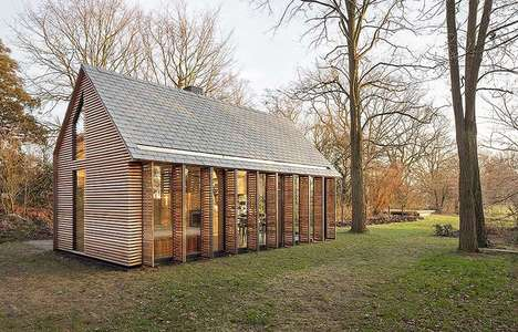 Contemporary Dutch Cottages - Zecc Architects Designs a Countryside Cabin Using Shuttered Walls