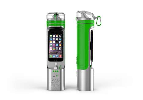 High-tech Water Bottles - The Next Bottle Keeps Your Smartphone as Close as Your Drinking Water
