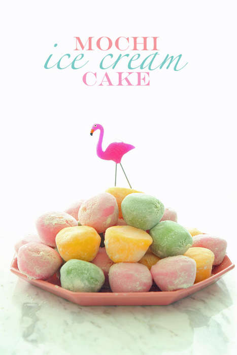 Stacked Ice Cream Desserts - This Easy Ice Cream Cake Involves Piling Mochi Ice Cream on a Plate