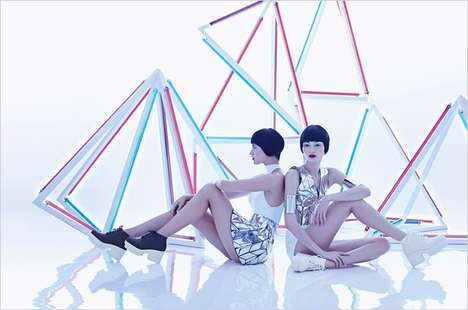 Prismatic Sci-Fi Fashion - The Plastic Dreams Starwalker Image Series is Futuristic