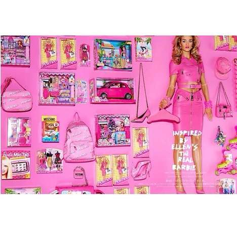 Fashionable Barbie Photoshoots - Rosie Huntington-Whiteley Channels Her Inner Doll for Vogue Japan