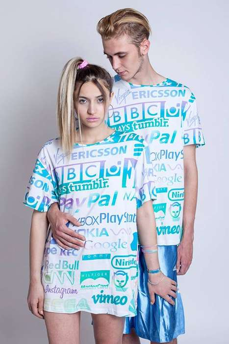Logo-Adorned Raver Fashion - This Unisex T-Shirt Boasts Vintage and Modern Logos