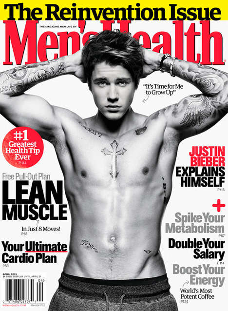 Buff Heartthrob Covers - This Justin Bieber Men's Health Photoshoot is All Grown Up