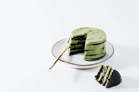 Bake-Free Matcha Cakes - This Mini Green Tea Chocolate Cake is Made With Stacked Wafers