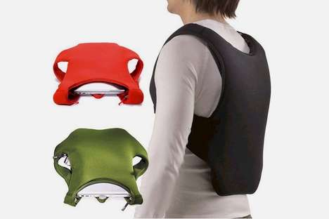 Laptop-Carrying Vests - The iDesk Laptop Backpack Holds Your Laptop Close to Your Body