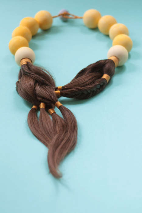 Chemotherapy Hair Jewelry - Sybille Paulsen's 'Tangible Truths' Turns Lost Hair into New Necklaces