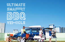 Compact Camper Vans - Nissan's Ultimate Smart BBQ Camper Car is Suited to Summer Getaways