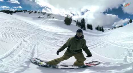 Mountainside VR Videos - Mountain Dew's Backcountry Boarding is an Epic Virtual Sports Experience