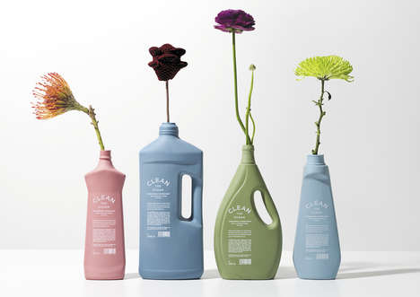 Biodegradable Cleaning Bottles - Clean the Ocean's Bottles Reduce Waste That Will End Up at Sea