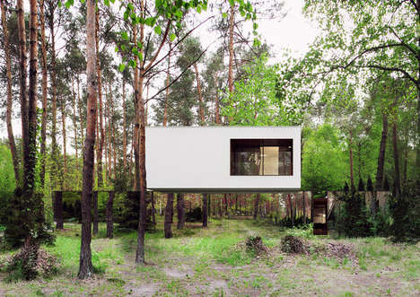 Floating Country Houses - This Mirrored Home Has Reflective Paneling to Camouflage It From Outsiders