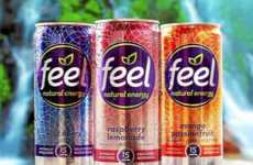 Sparkling Stimulant Drinks - Feel's Healthy Energy Drinks Contain Natural Caffeine and Sugar