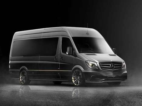 Luxury Business Vans - The Carlex Jet Van Sports 24k Gold Trim and a Soundproof Interior