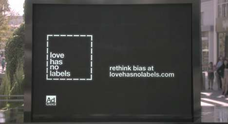 Equality Publicity Stunts - The 'Diversity & Inclusion - Love Has No Labels' Ad Showcases Skeletons