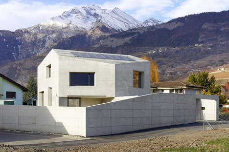 Concrete Alpine Homes - Maison Fabrizzi is an Impressive Residence in the Swiss Alps