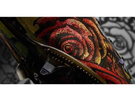 Tattoo-Inspired Soccer Shoes - The Adizero f50 Tatoo Pack Features Dramatically Intricate Designs