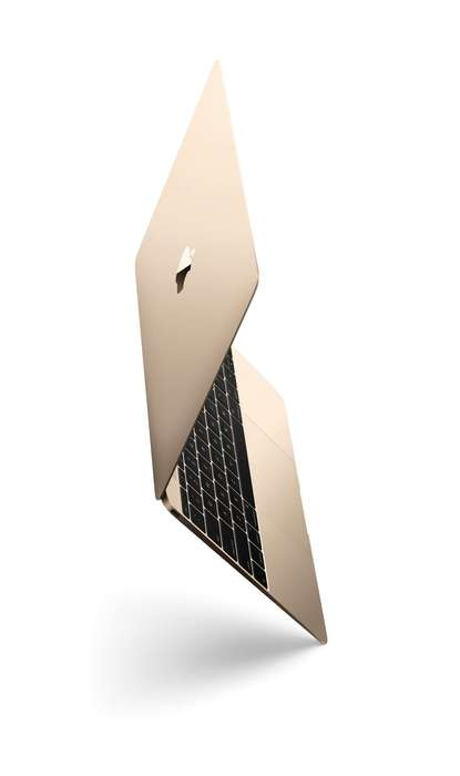 Metallic Laptop Designs - Apple's Gold MacBook Offers a Different Colorway for a Stylish Look