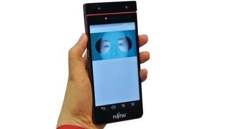 Eye-Controlled Prototype Smartphones - Fujitsu Foresees People Unlocking Phones with a Blink