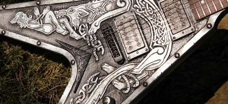 Artistic Viking Instruments - These Customized Guitars Take Inspiration From Viking History