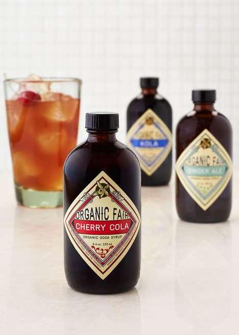 Organic Soda Alternatives - Rodale's Creates 5 Flavors of Naturally Sweetened Soda Syrup