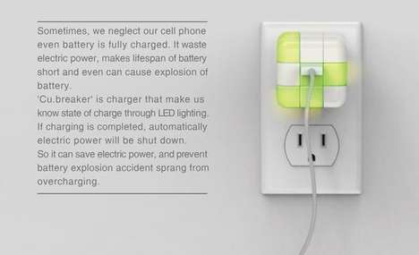Rubik's Cube Chargers - An Automatic Switch-Off Charger Keeps Your Device from Overheating