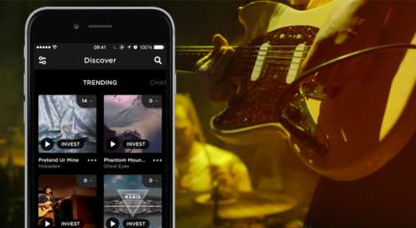 Crowd-Ranked Music Apps - This Music Discovery App Lets Listeners Invest in Their Favorite Artists