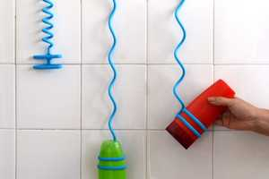 These Coiled Suction Cables Conveniently Suspend Your Shampoo Within Your Shower