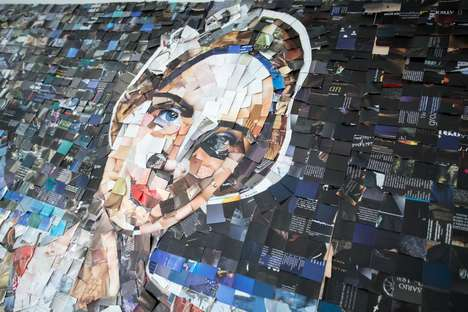 Contemporary Collaborative Collages - A Magazine Collage Portrait Pieces Together the Modern Woman