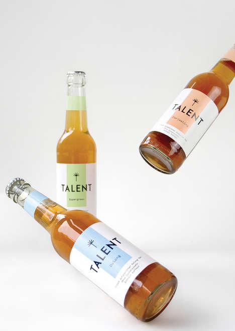 Easygoing Tea Bottles - Talent Tee's Bottled Tea Beverages Are Packaged Like Beer