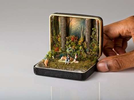 Ring Box Dioramas - TALWST Creates Miniatures Inspired by Current Events and Pop Culture