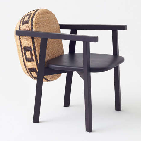 Modern Bamboo Chairs - Nendo's Tokyo Tribal Collection Uses Wood for Weaving