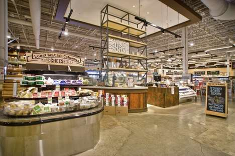 Artisanal Dairy Displays - The Fresh St. Farms Store Boasts Rustic Deli and Cheese Counters