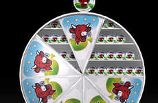 Package-Inspired Merchandising - This Laughing Cow Cheese Retail Display Replicates its Packaging