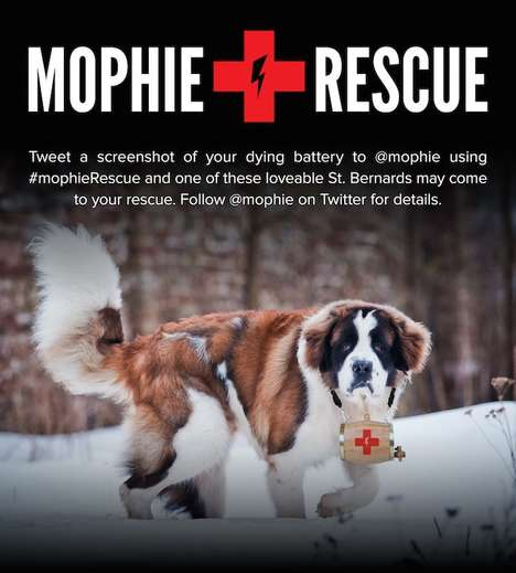 Phone Charger Rescue Dogs - The Mophie Battery Rescue Dogs Save Dead Devices at SXSW
