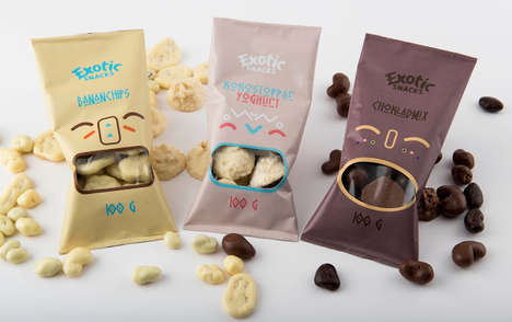 Exotic Snack Packaging - The Tribal Aesthetic of These Edibles Sets It Apart from Competing Brands