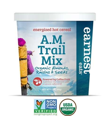 Hot Energizing Cereals - Earnest Eats' Hot Breakfast Cereals Deliver a Boost with Coffee Fruit
