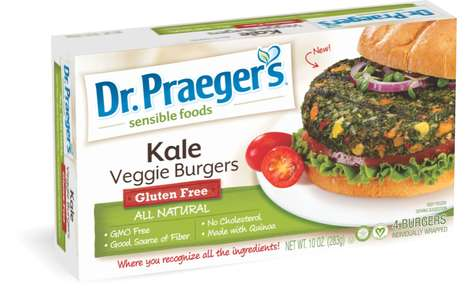 Green Superfood Burgers - Dr. Praeger's Healthy Burgers Are Loaded with Leafy Greens, Quinoa & Hemp