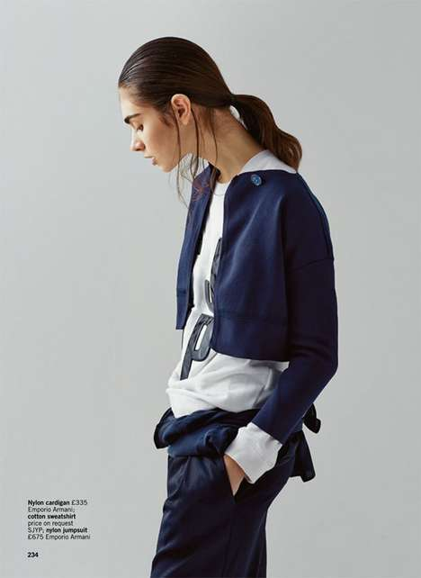 Sporty Urbanite Editorials - Glamour UK's Back to Black Story Boasts Athletic Fashions