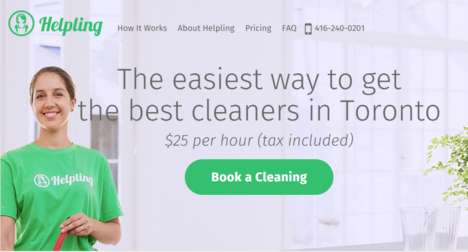 Web-Based Cleaning Services - Helpling is the Uber of Household Cleaning for Added Convenience