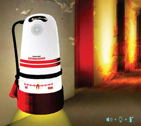 Fire Extinguisher Alerts - The 'I'm Here' Device Reiterates Flame Risk and Attracts Attention