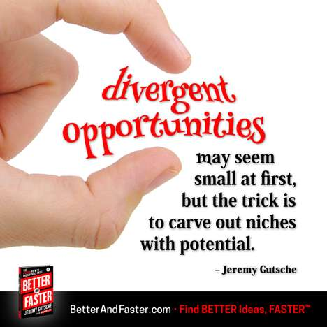Finding Potential in Niches - Better and Faster Shows Business Opportunities Created with Divergence