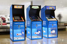 Charitable Arcade Games - These Charity Arcades in Swedish Airports Raise Money for the Red Cross
