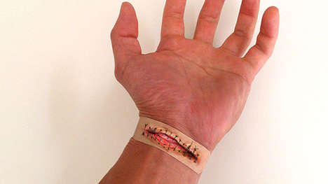 False Bloody Bandages - These Boo-Boos Band-Aids Make Your Injuries Look a Lot More Intense