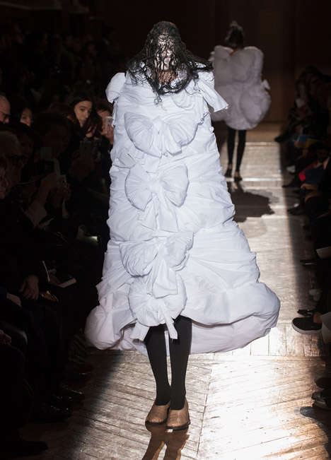 Morbid Victorian Fashions - The Comme des Garcons' AW 2015 Collection Elevates Morbid Fashion